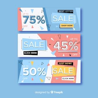 판매 배너 모음 멤피스 스타일