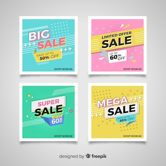 Sales banner collection in style style