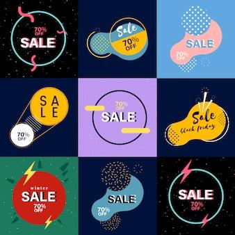 Raccolta di banner di vendita