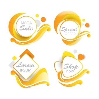 Sales banner in swirl detailed