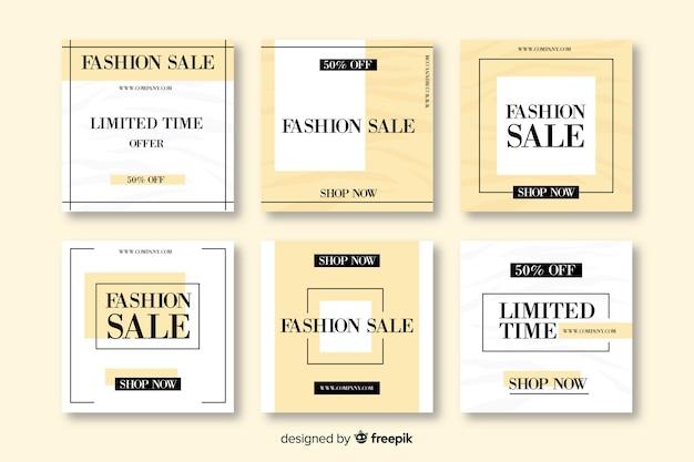 Modelli di banner di vendita per i social media