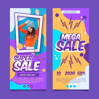 Sales  banners designs
