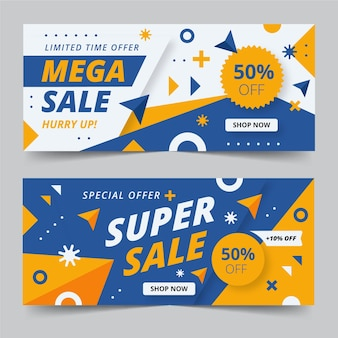 Sales banners template collection