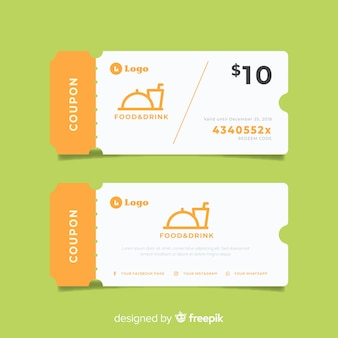 Sales concept with coupon