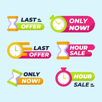 Sales countdown banner collection