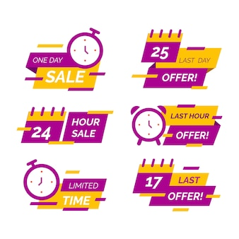 Sales countdown banner set
