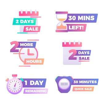Sales countdown banner set