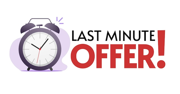 Sales discount promotion of last minute offer web banner