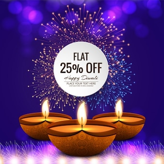 Sales diwali background with fireworks