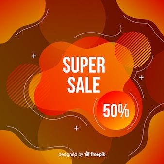 Sales fluid effect background