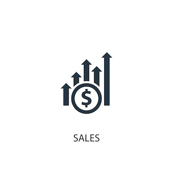 販売アイコン。シンプルな要素のイラスト。販売コンセプトシンボルデザイン。 webおよびモバイルに使用できます。
