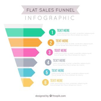 Продажа инфографики шаблон в плоской конструкции