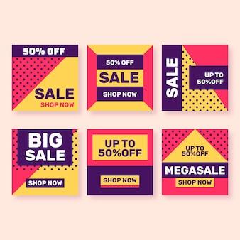 Sales instagram post pack