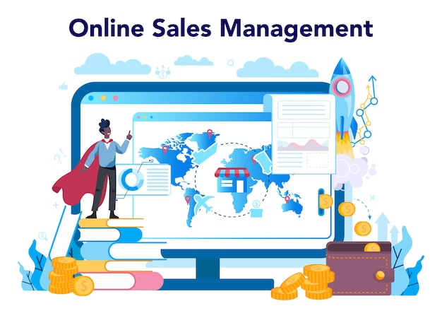 セールスマネージャーまたはコマーシャルディレクターのオンラインサービスまたはプラットフォーム