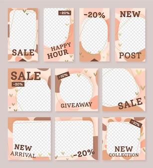 販売の新しい投稿instagramソーシャルメディアテンプレート