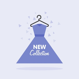 婦人服コレクションの販売新しい夏のハンガーのドレスの概念図