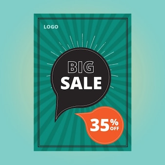 Sales poster design