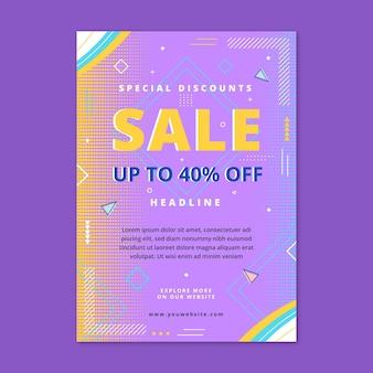 Sales poster template flat design