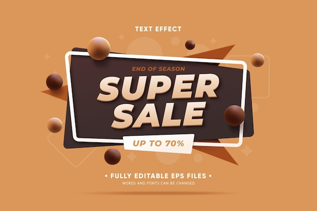 Sales promo with abstract shapes