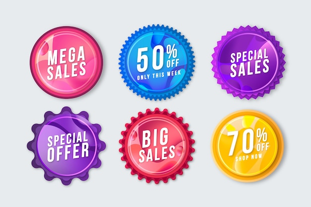 Sales promotion label set