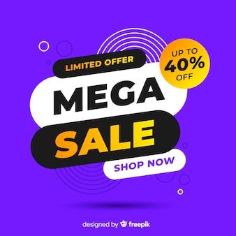 Sales promotion on violet background