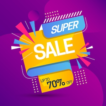Sales promotion with super sale