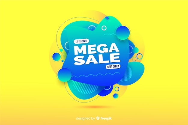 Sales shape fluid effect background