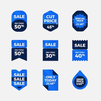 Sales with discount collection Free Vector