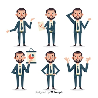 Salesman character collection in different positions