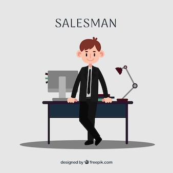 Salesman in office