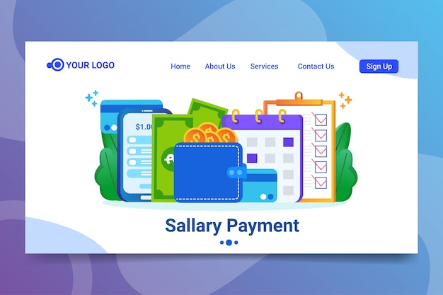 Sallary payment web template