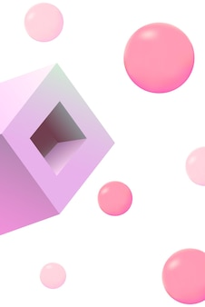 연어 색 상자 빛나는 벡터 흰색 배경입니다. 컬러 폴리곤 커버. 무지개 바탕 화면 템플릿입니다. 밝은 마름모 디자인.