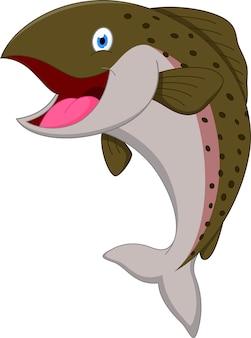 Salmon fish cartoon