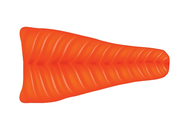 Salmon fish. fillet isolated on white background. raw seafood vector illustration. realistic product of healthy nutrition.