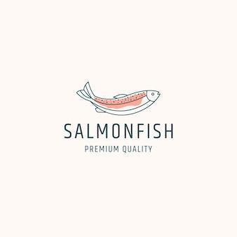 Иллюстрация шаблона дизайна логотипа лосося рыбы
