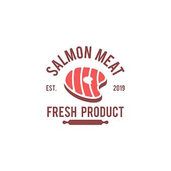 Salmon logo template