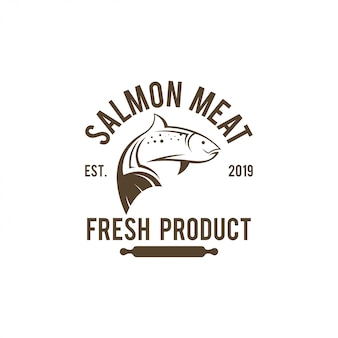 Salmon logo template