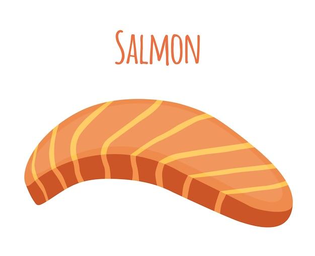 Salmon slice. piece of fish