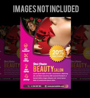Salon brochure or flyer