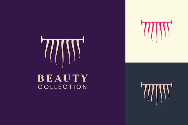 Salon logo template with simple and luxury hair shape