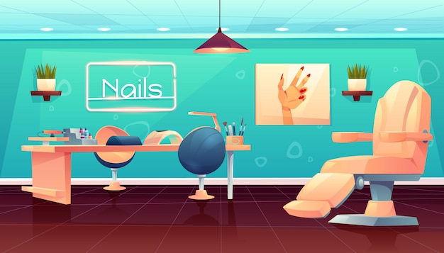 Salon for manicure, pedicure nails care procedures