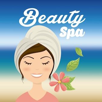 Salon spa design, vector illustration eps10 graphic