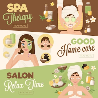 Salon woman therapy banners