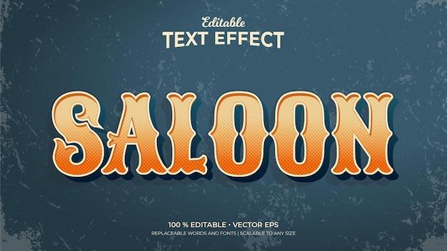 Saloonn vintage style editable text effects