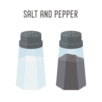 Salt, pepper set, kitchenware. saltshaker and pepperbox