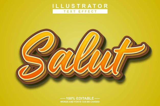 Салют 3d текстовый эффект редактируемый