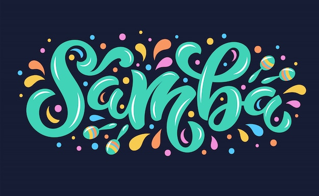 Samba lettering background