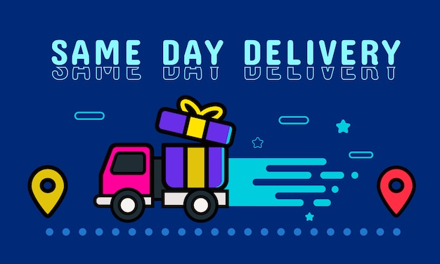 Same day delivery banner