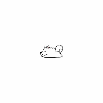 Samoyed puppy sleeping icon
