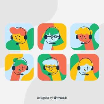 Sample of call center avatars